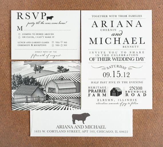 Party Till The Cows Come Home Wedding Invitations Rustic Farm House Invitations Farm Wedding Invitation Barn Wedding Invitations Cheap Wedding Invitations