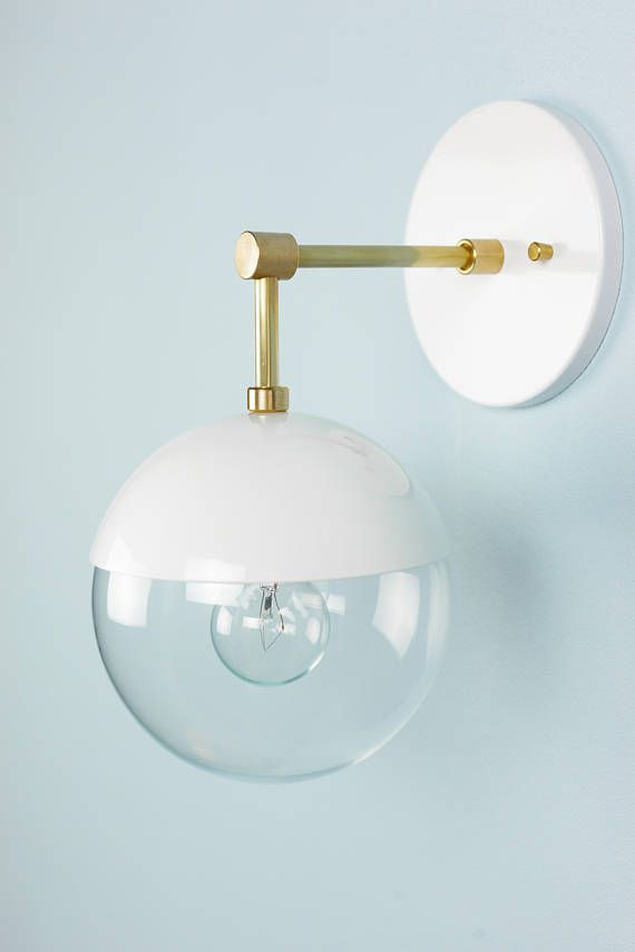 Bathroom Sconces Facing Up Or Down modern lighting brass & white wall lamp sconce- myrtle | bathroom