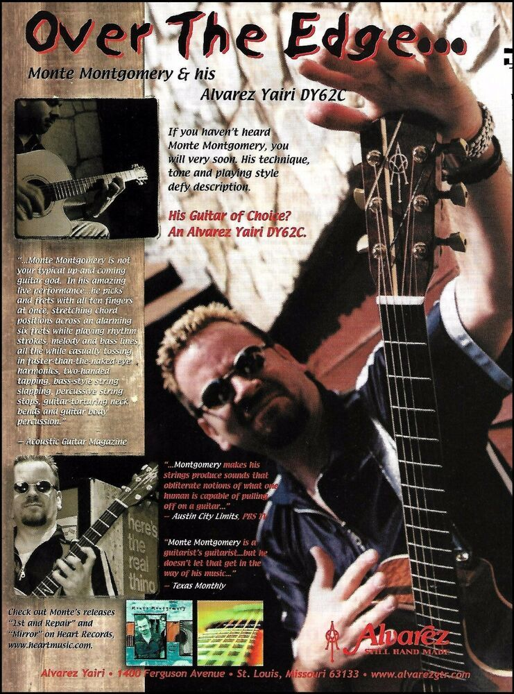2000 Alvarez Yairi Dy62c Acoustic Guitar Monte Montgomery Vtg Print Ad Ebay In 2020 Acoustic Guitar Guitar Magazine Guitar Photos