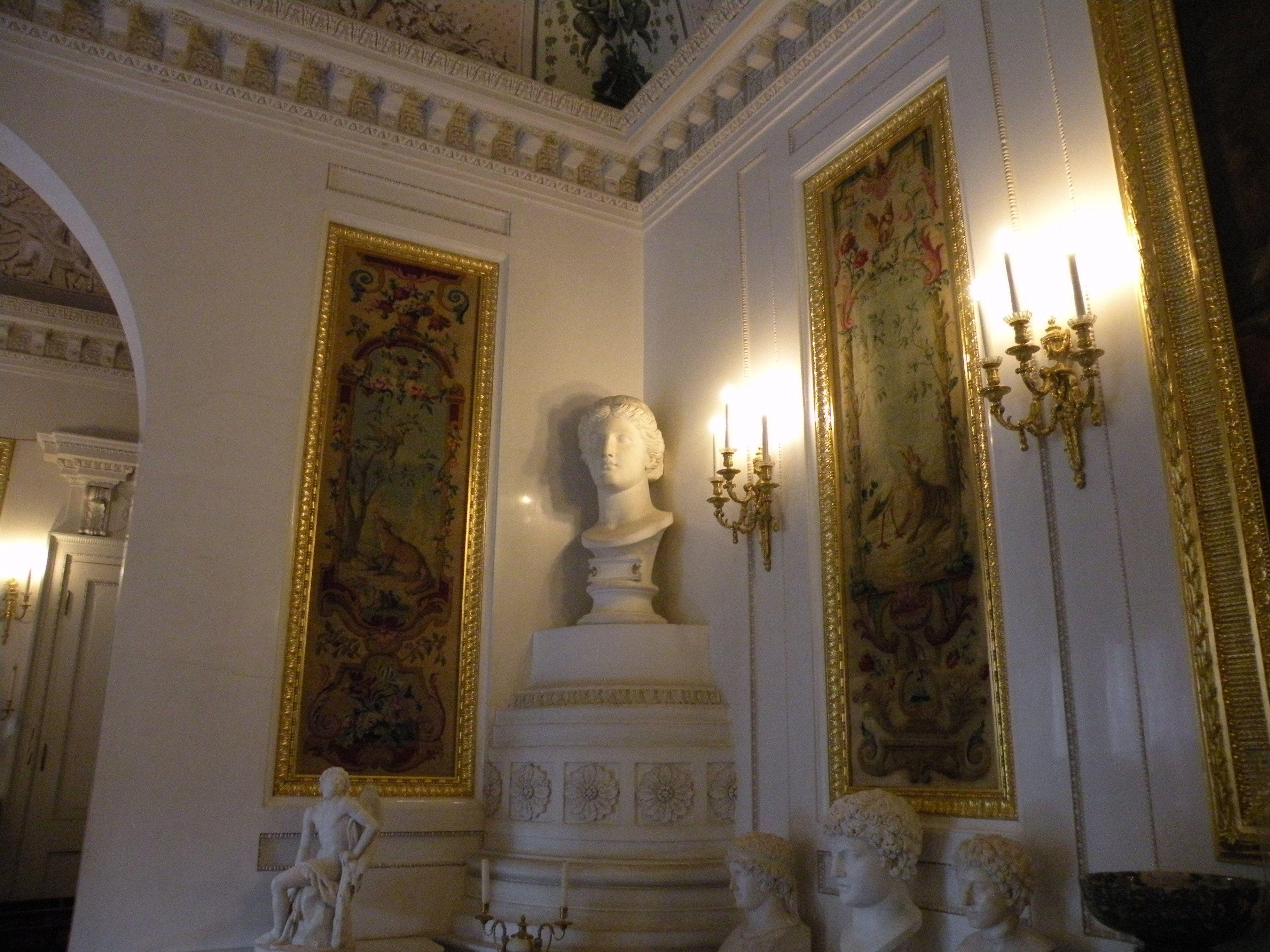 Grand Palais - Intérieur - Pavlovsk - Bibliothèque de Paul Ier - Décoré par Vincenzo Brenna entre 1789 et 1791 sur la base d'un projet de Charles Cameron.