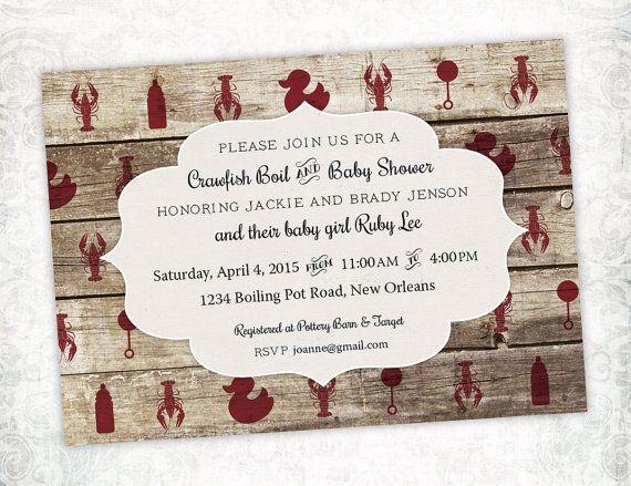 Printable Digital File Crawfish Boil Baby Shower Invitation