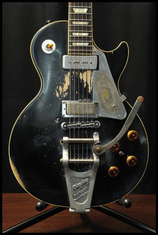 Young old guitar neil black