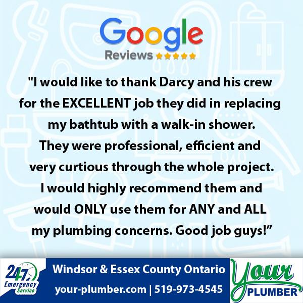 Your Plumber Testimonials Windsor, Ontario, Canada in