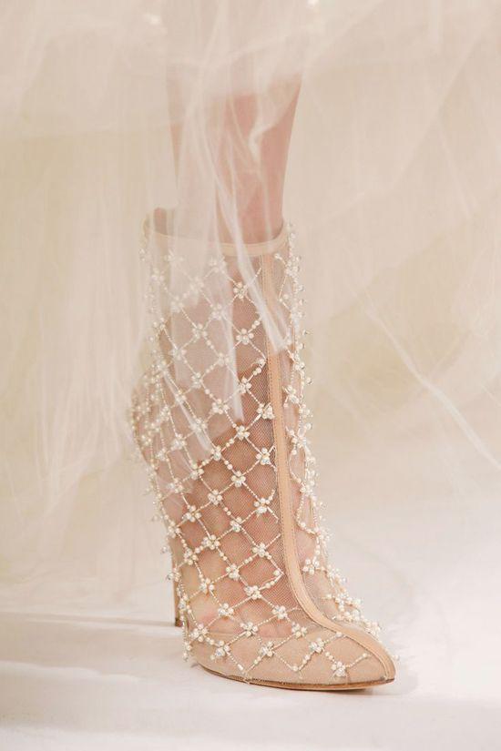 Oscar de la Renta nude shoes.