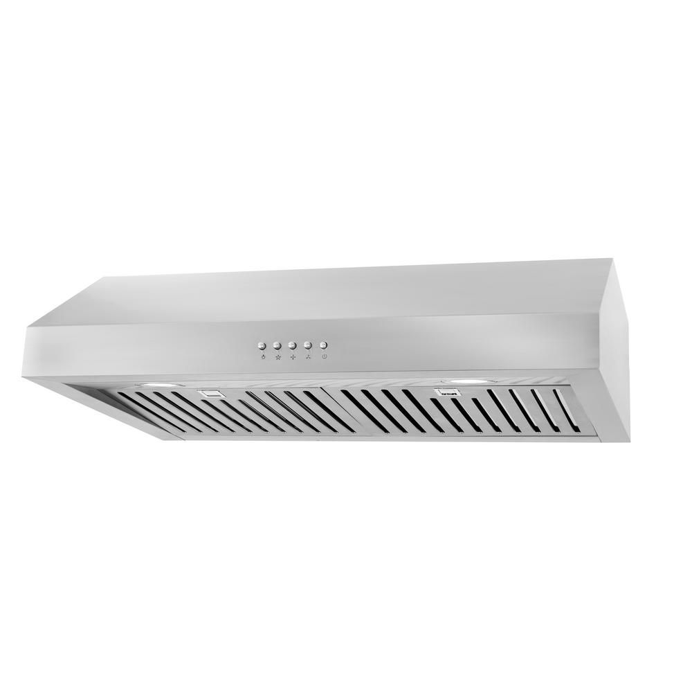 Cosmo 30 In Ducted Under Cabinet Range Hood In Stainless Steel With Led Lighting And Permanent Filters Uc30 Range Hood Wall Mount Range Hood Under Cabinet Range Hoods
