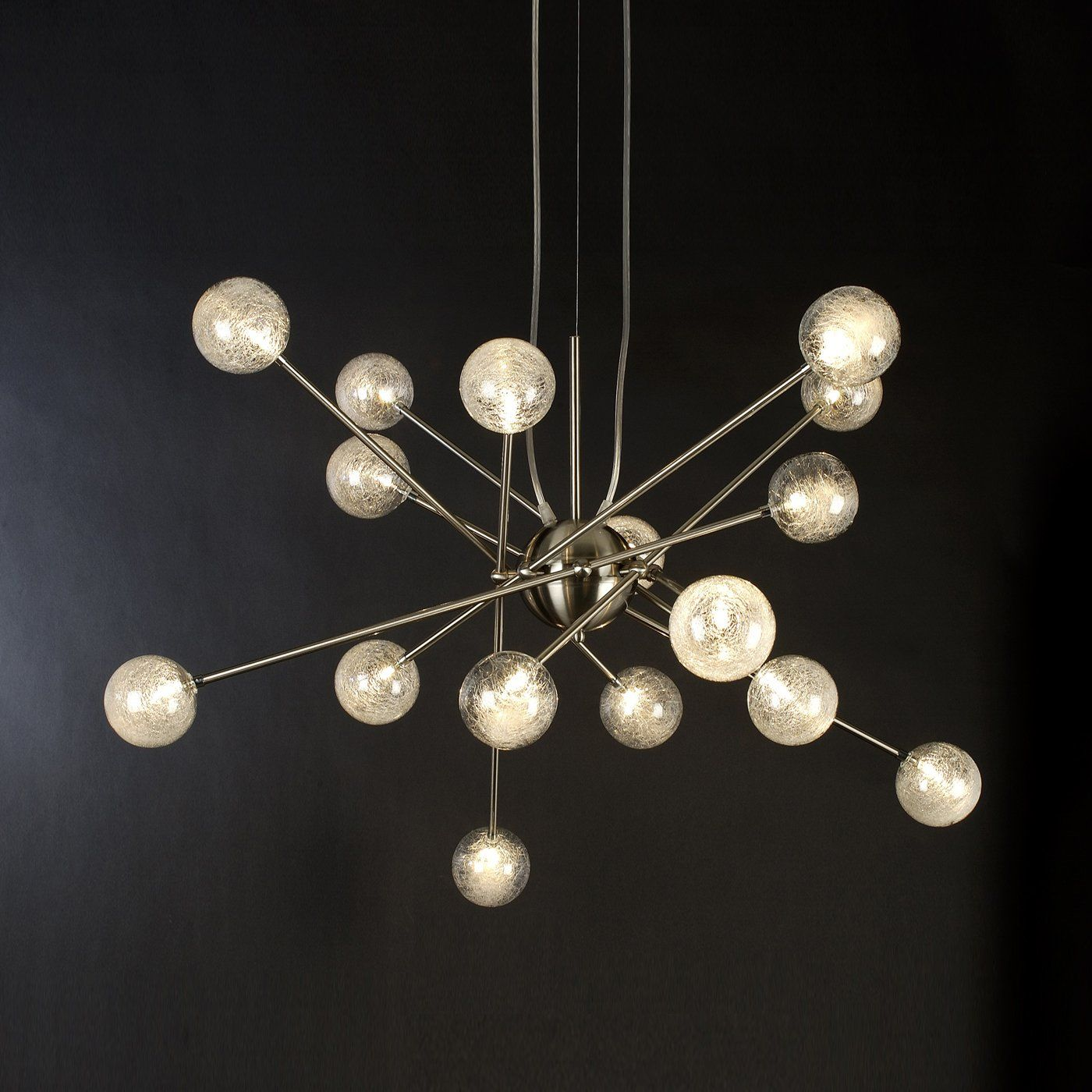 Trend lighting tp6366 16 16 light galaxia chandelier brushed nickel trend lighting tp6366 16 16 light galaxia chandelier brushed nickel lighting universe aloadofball Image collections