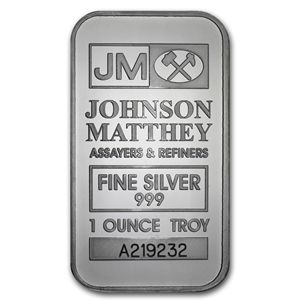 1 Oz Silver Bar Johnson Matthey