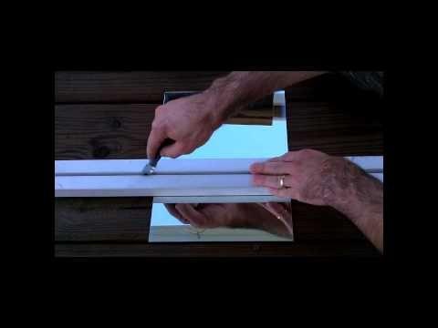 How To Cut A Mirror Youtube How To Cut Mirror Diy Mirror Dresser
