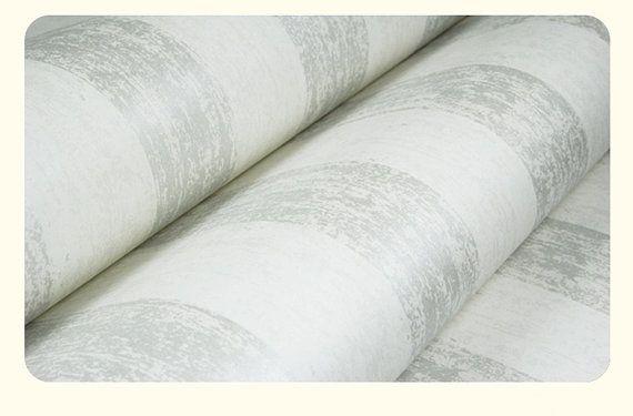 27.5 x 330.5 White Silvery Stripes Wallpaper & Black by DreamyWall