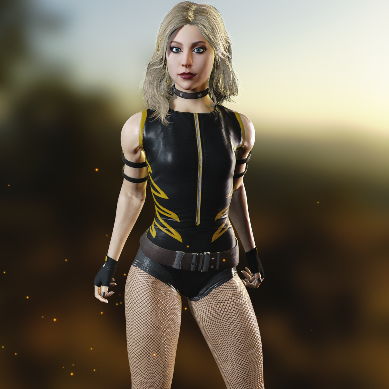 Injustice 2 Black Canary Render 1 By Roadfail Injustice 2 Black Canary Black Canary Injustice 2