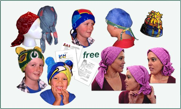 Free Pattern For Chemo Hats For Charity Sewing Pinterest Unique Chemo Cap Sewing Pattern