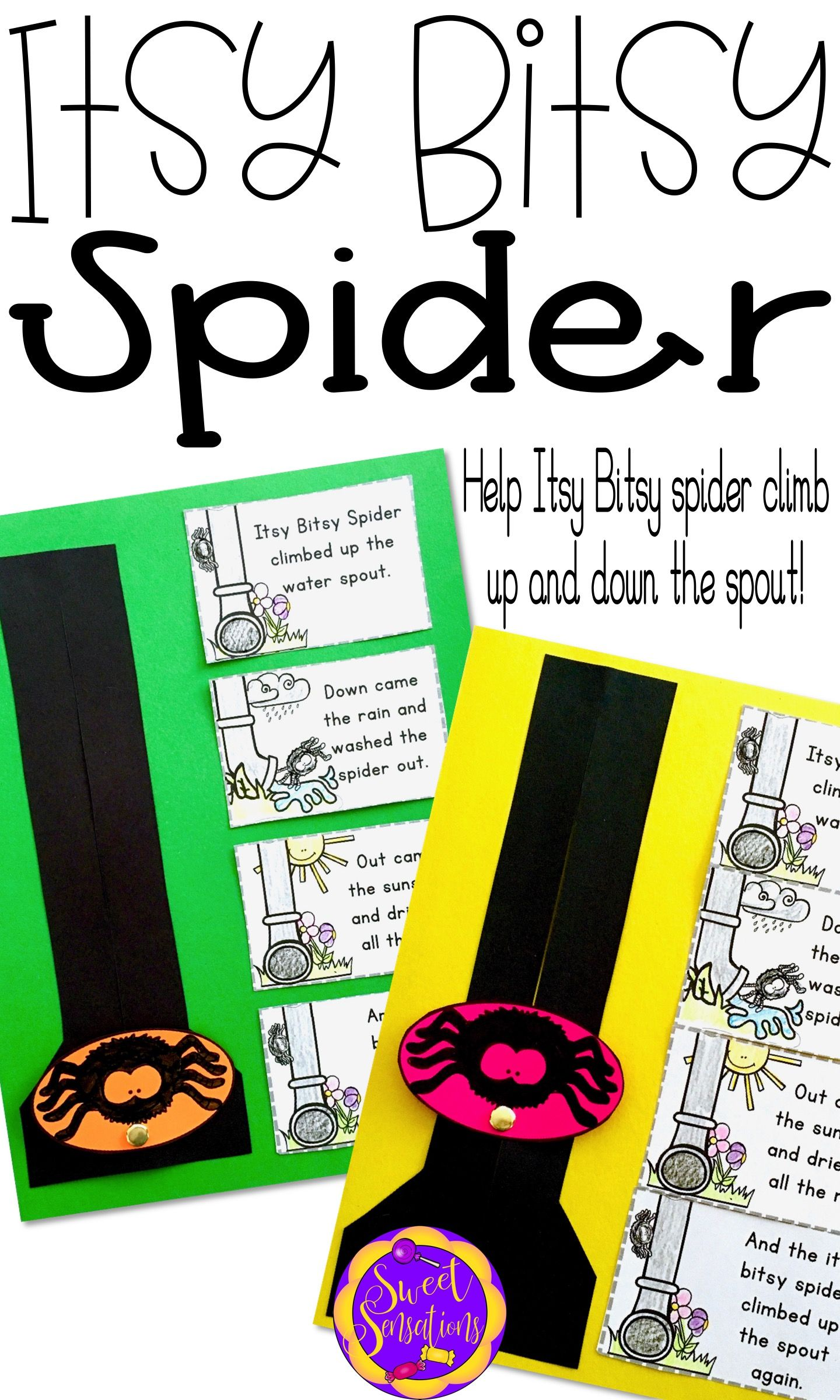Itsy Bitsy Spider Incy Wincy Spider Rain Spout Craft For