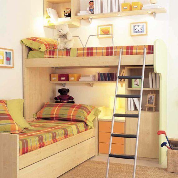 Literas infantiles y juveniles camas chicos literas - Habitaciones infantiles tren ...