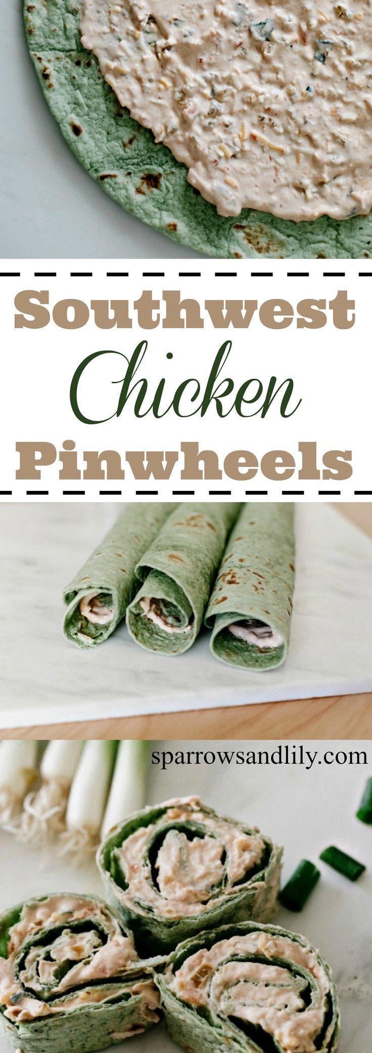 Game Day Southwest Chicken Pinwheels Recipe Chicken