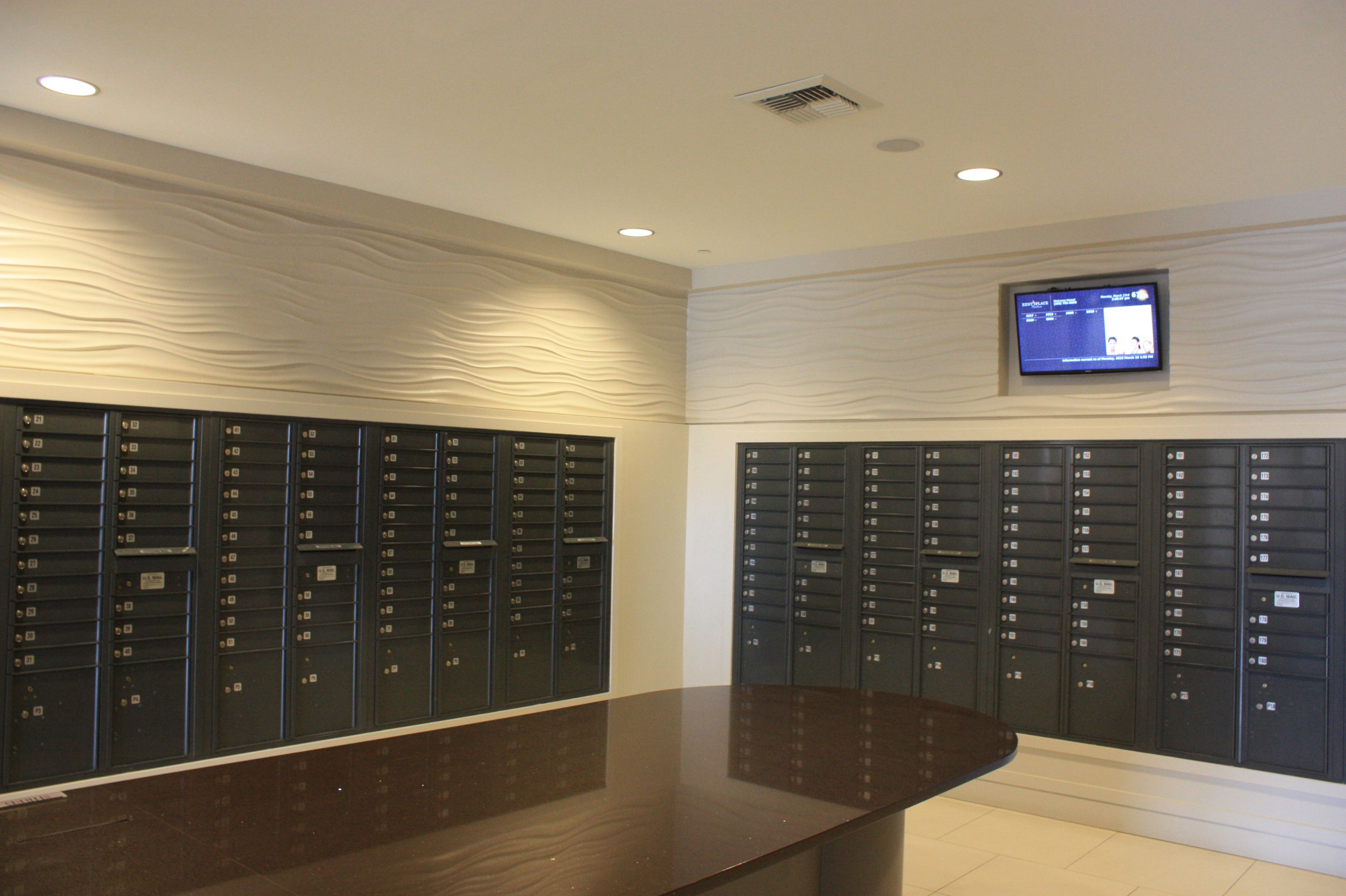 Apartment Building Mailboxes highrise mail room - google search | avalon maplewood mailroom