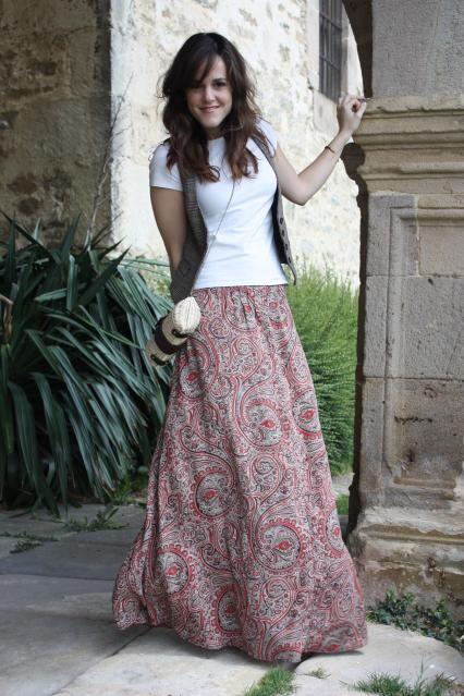 Maxi dress & long skirt | Nähmuster, Lange röcke und Stricken und häkeln