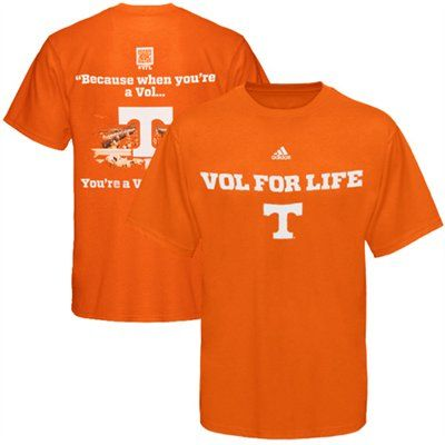 best loved 96c0c ba327 adidas Tennessee Volunteers Vol For Life Student T-Shirt ...