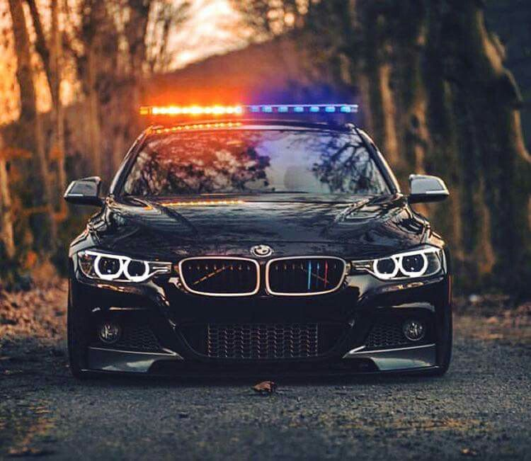 BMW F30 3 Series Black Police Car