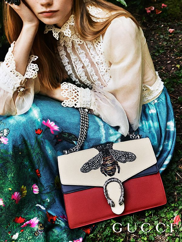 f846307fd96 Discover more gifts from the Gucci Garden by Alessandro Michele. The  Dionysus shoulder embellished with a hand-embroidered bee appliqué.