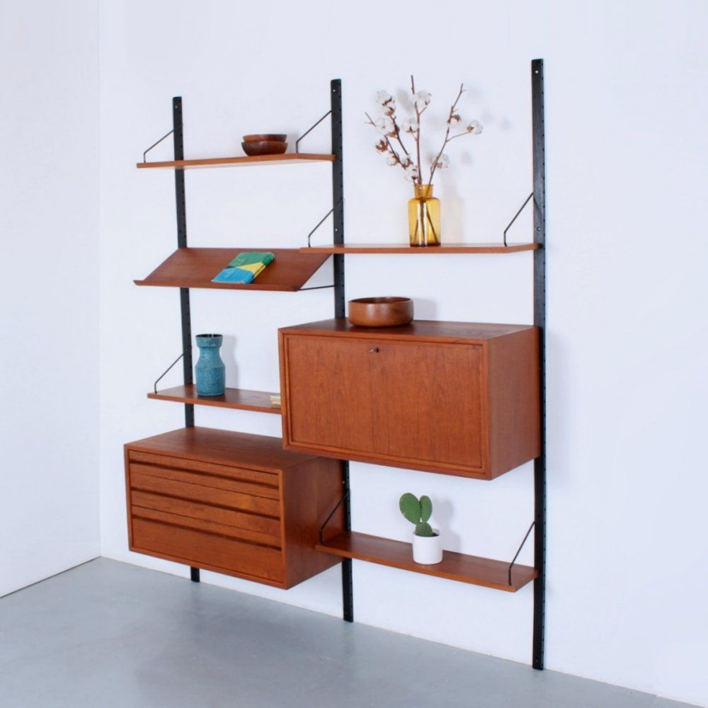For Sale Teak Cadovius Royal System Modular Unit With Drawer Box Modular Unit Wall Storage Unit Modular System