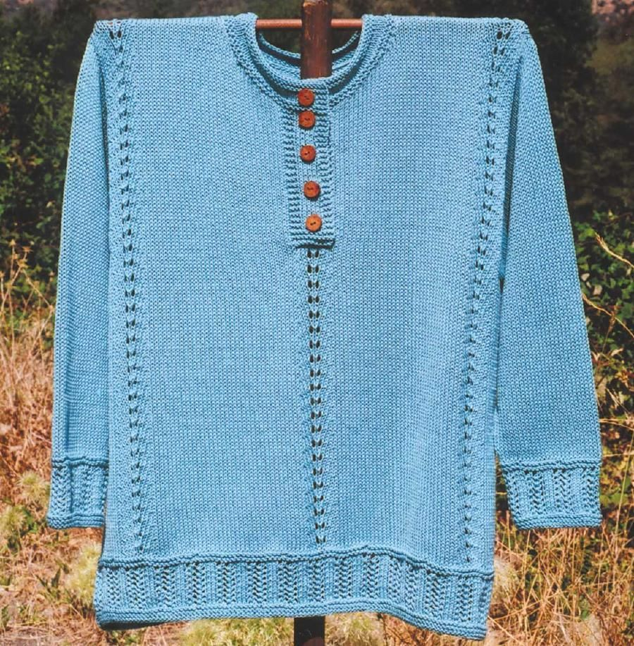 Applegate Shirt | Double knitting, Stockinette and Dk weight yarn