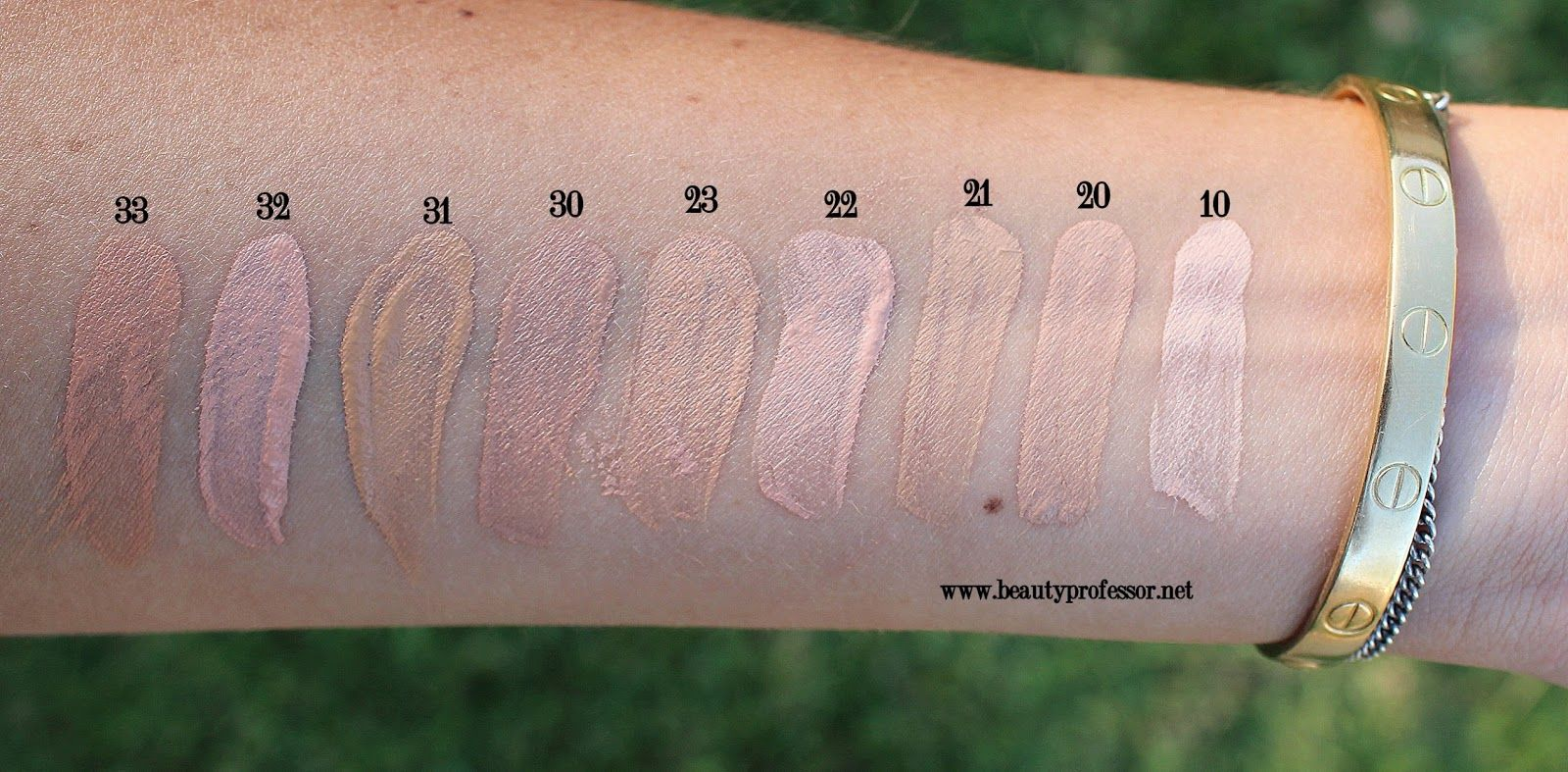 e0896cff Dior Star Foundation Review...Swatches of All Shades ...