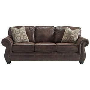 Best Benchcraft Breville Sofa Faux Leather Sofa Faux Leather 640 x 480