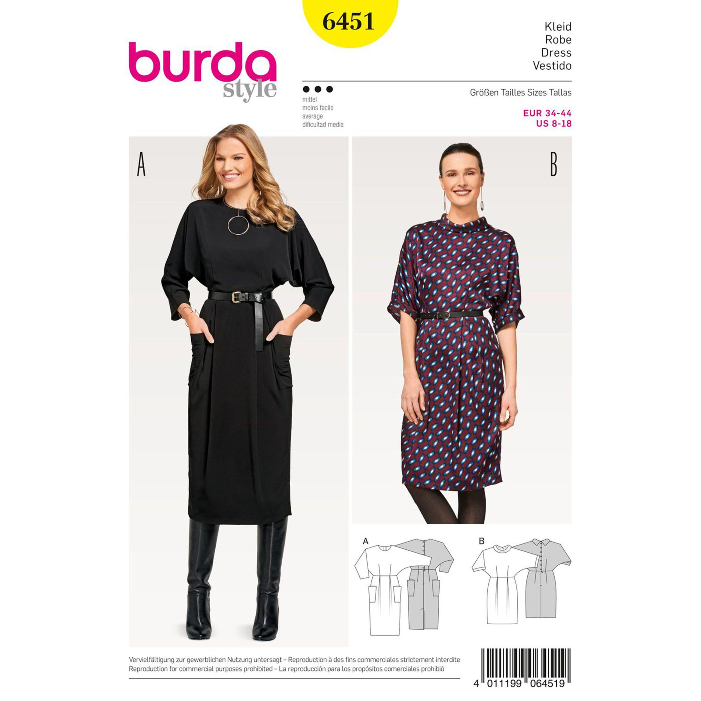 Burda Burda Style Pattern B6451 Misses Dresses Pattern Dress