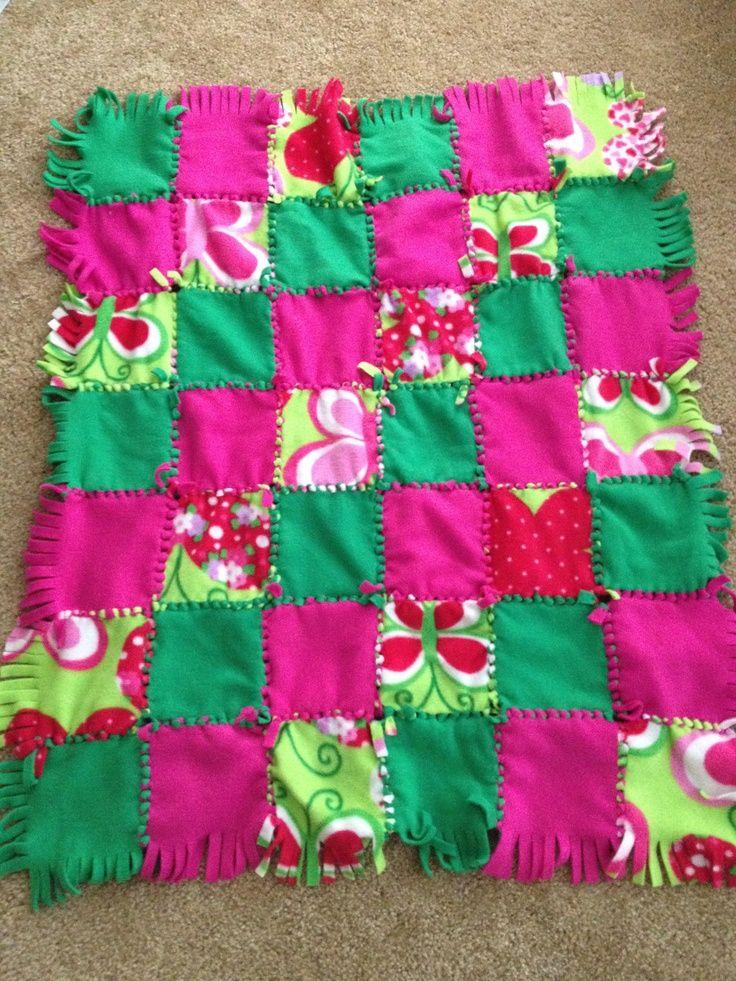 Tie Blankets Girl Fleece Tie Quilt Blanket By Ahill0472 On Diy Tie Blankets Diy Tie Blankets Tie Quilt Tie Blankets