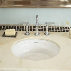 American Standard A0484000020 Estate Undermount Style Bathroom Sink White