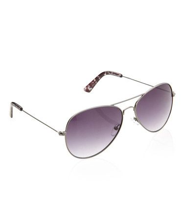 Take a look at this Gunmetal Pilot Sunglasses by Cole Haan on #zulily today!