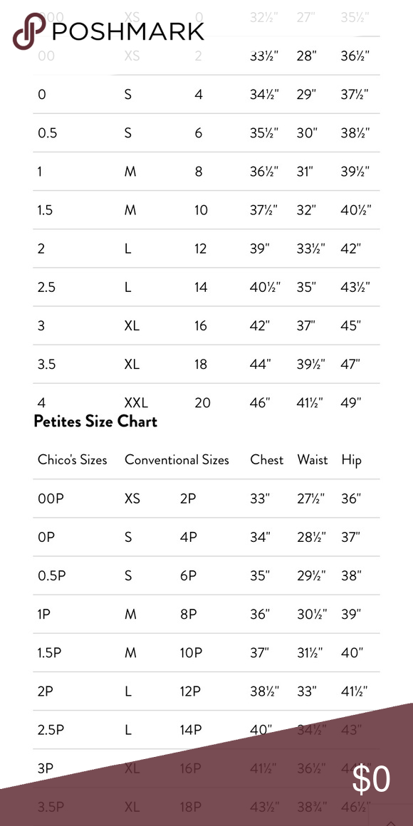 check out best authentic more photos Chico's Size Chart Chico's Size Chart-First picture regular ...