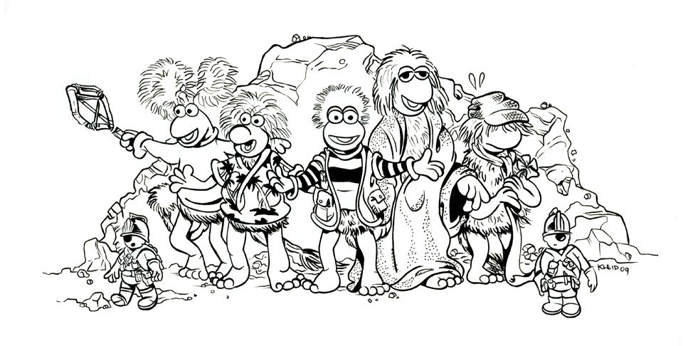 fragle rock coloring pages - photo#17