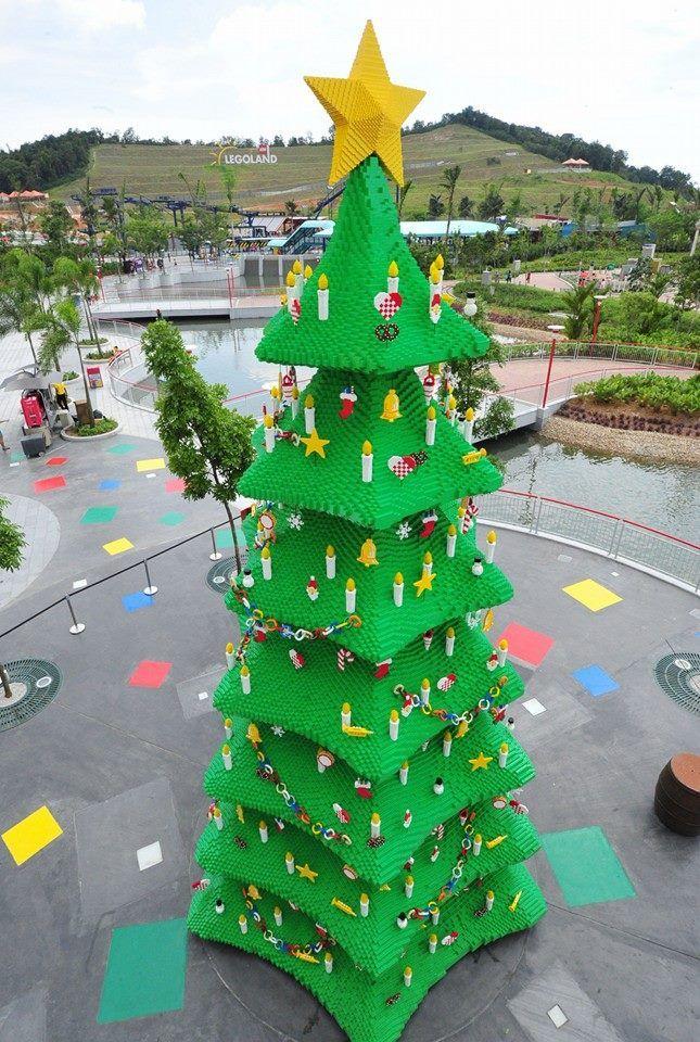 Giant Christmas tree made out of lego legos Pinterest Legos