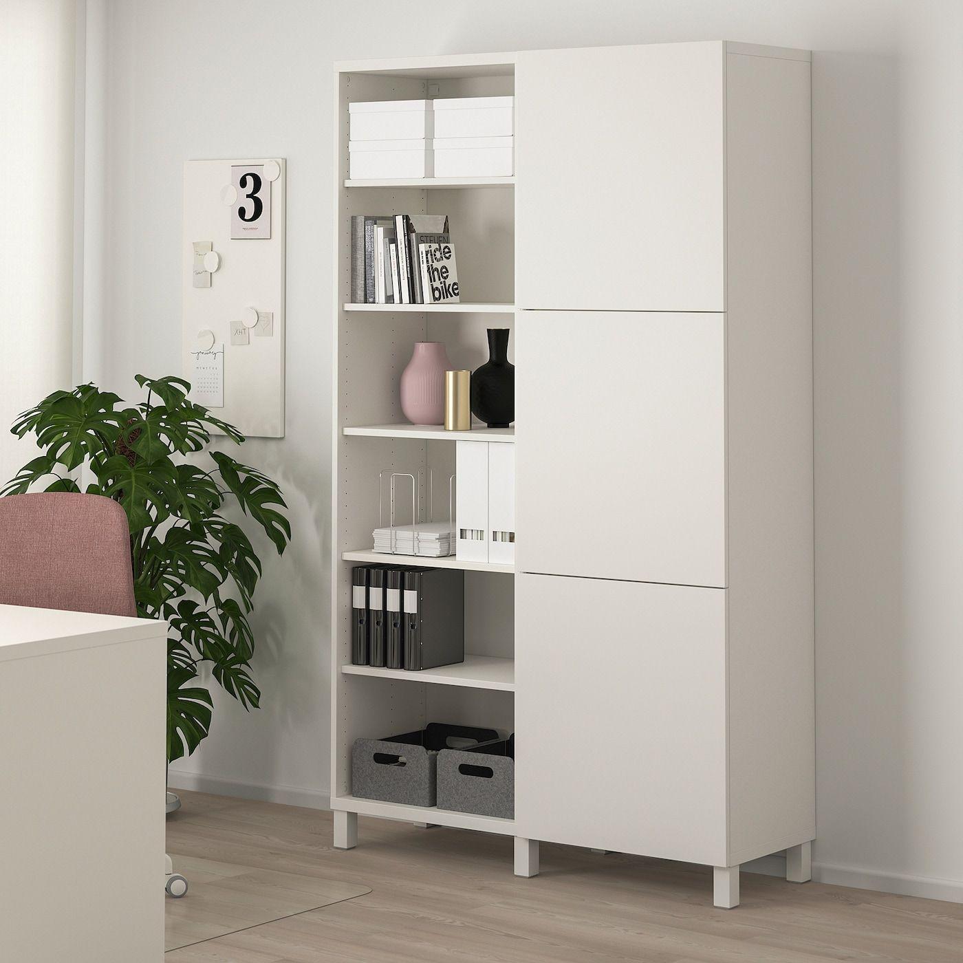 IKEA BESTÅ Aufbewahrung mit Türen - weiß/Lappviken/Stubbarp weiß