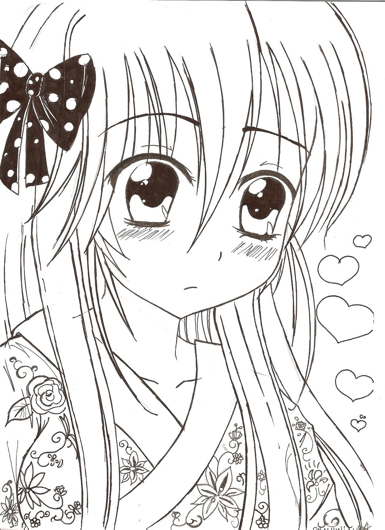 kawaii girl coloring pages anime kawaii girl oc by Razor Sensei on DeviantArt | Coloring  kawaii girl coloring pages