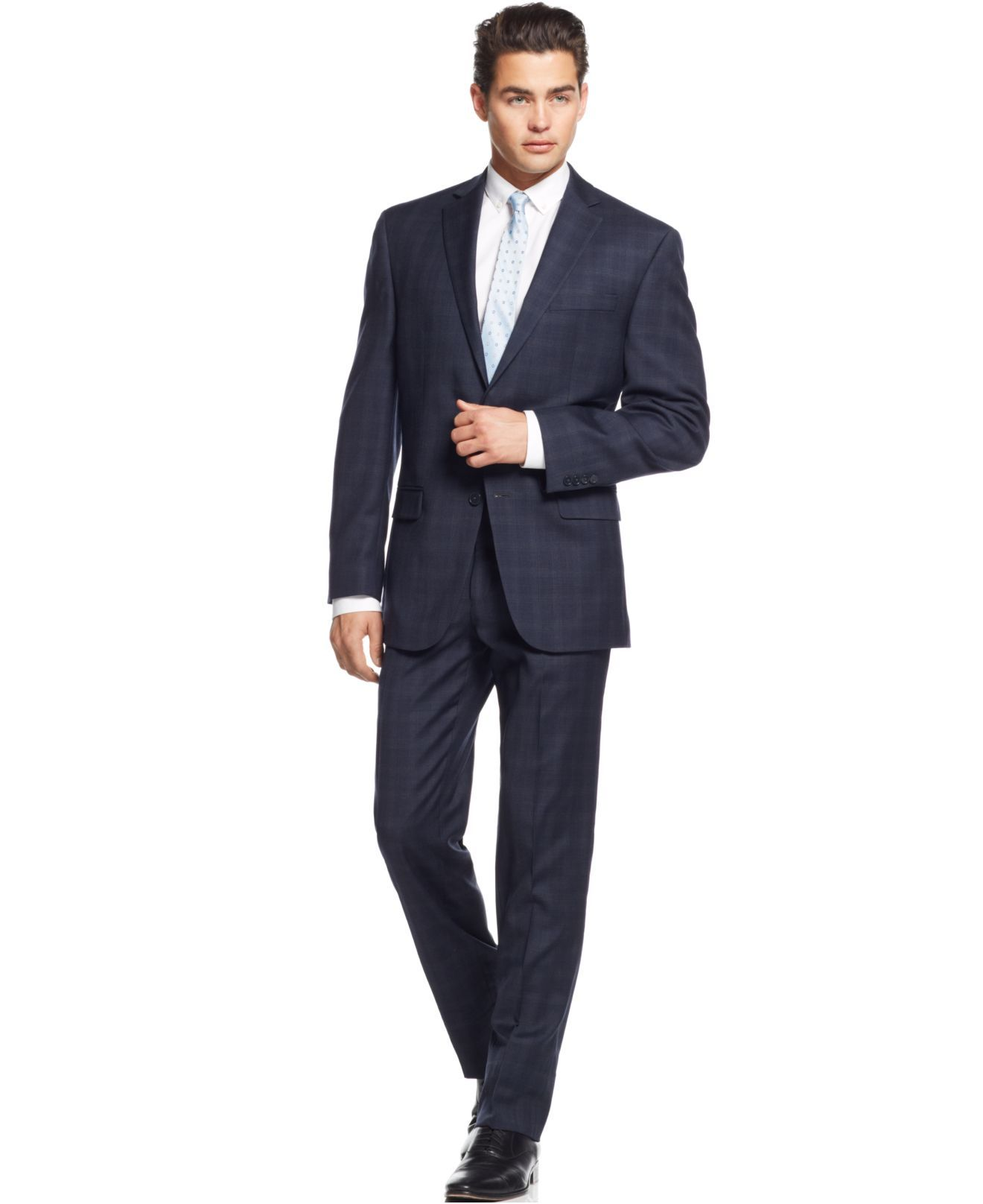calvin-klein-navy-navy-plaid-slim-fit-suit-blue-product-0 ...