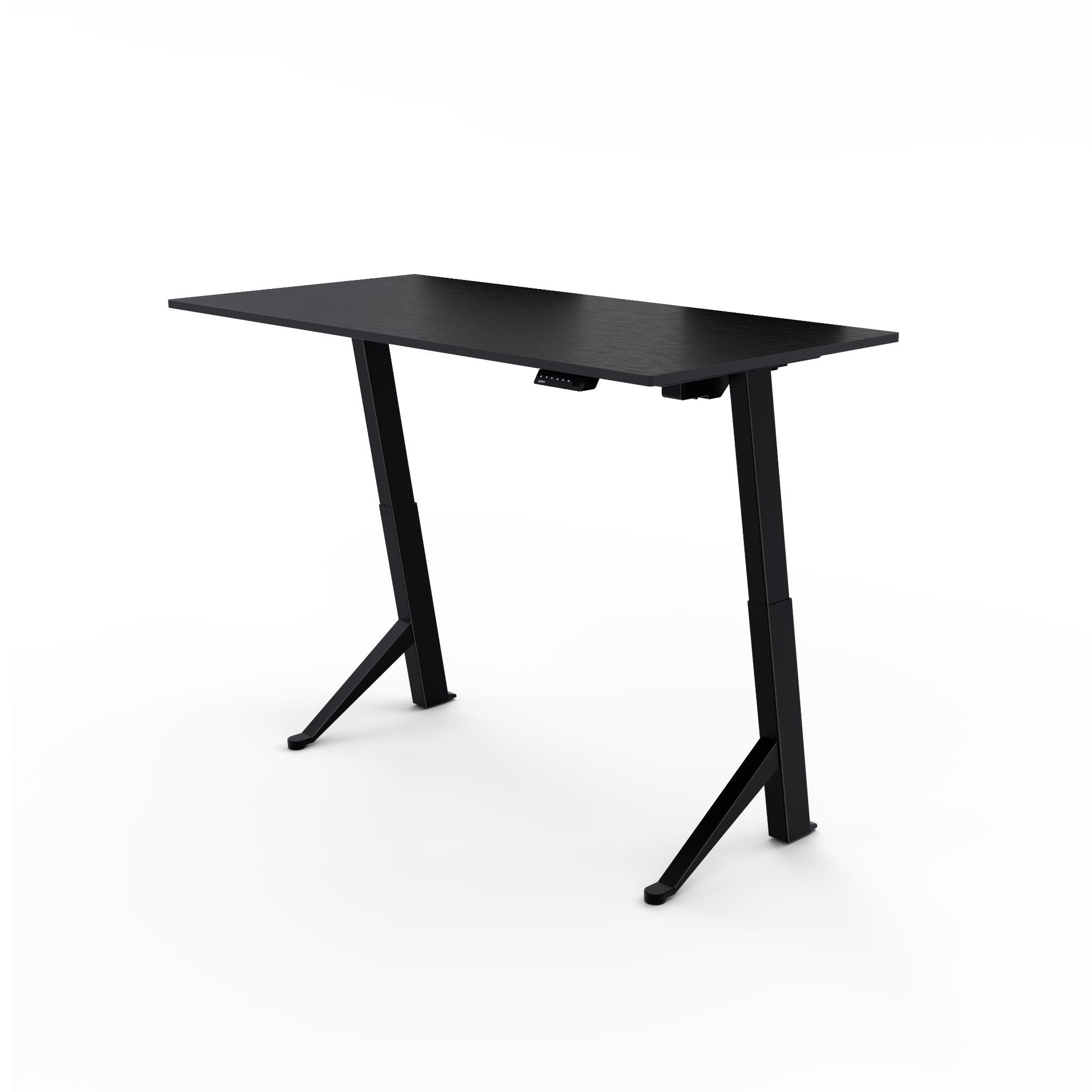 Home electric adjustable standing desk black black medium in