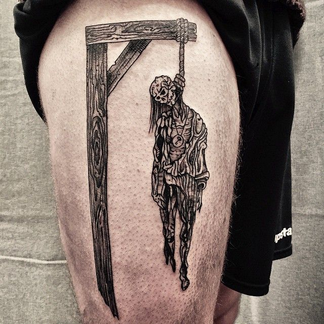 HAND JOB TATTOO | Better picture #hanged #noose #gallows #dead_man...