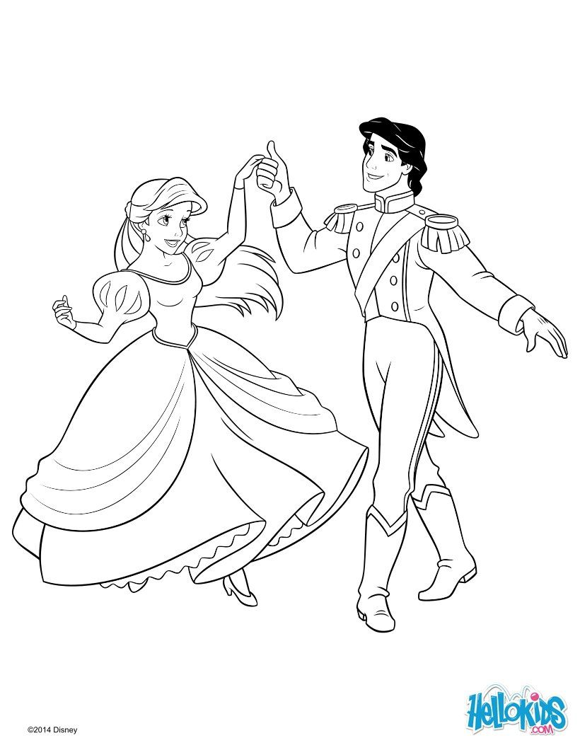 Eric and Princess Ariel Dancing