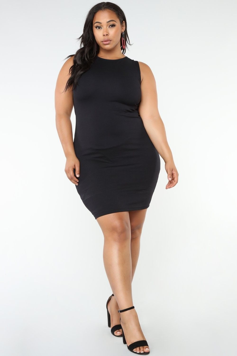 plus size not so simple chick dress - black $27.99 #fashion #ootd