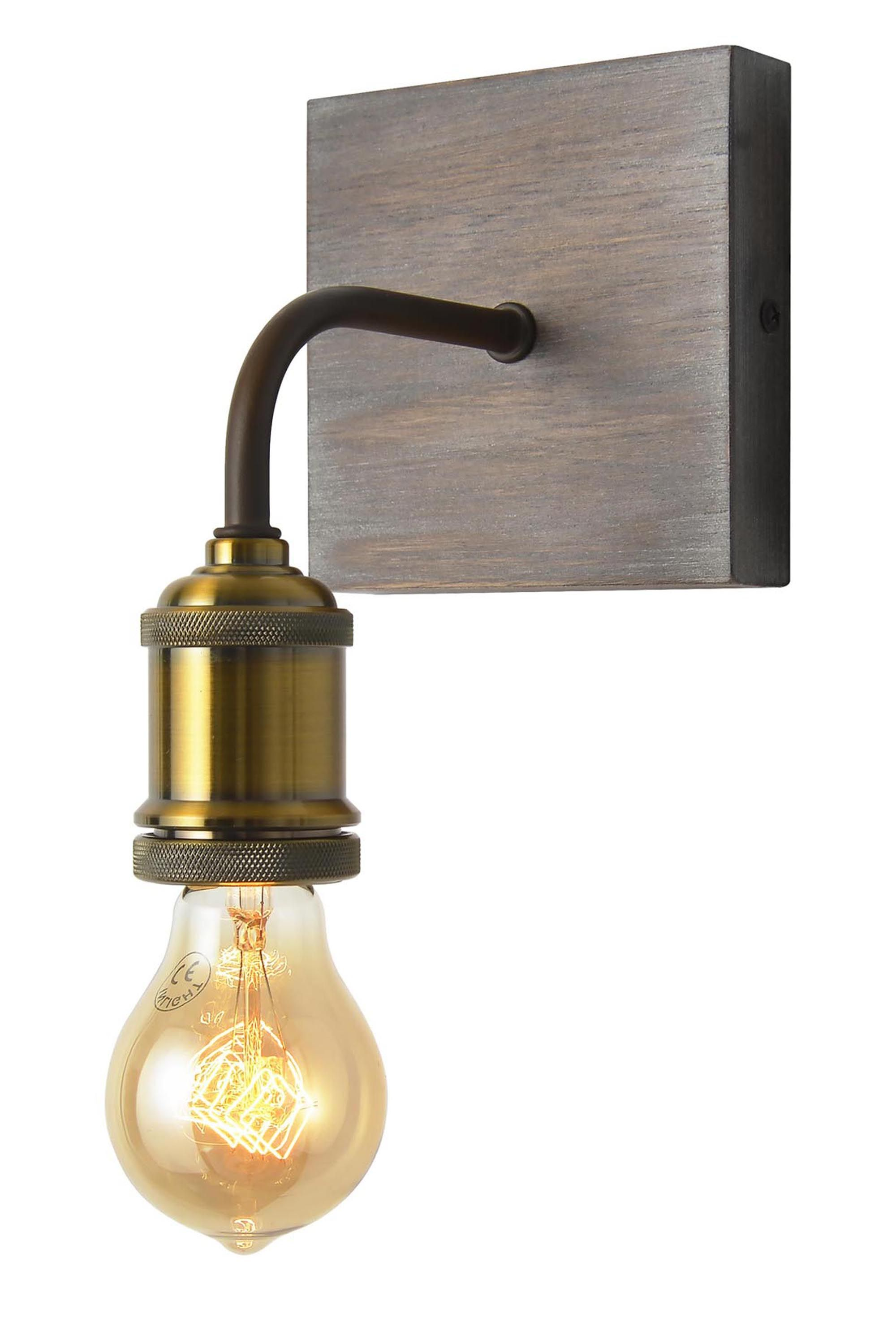 35 Harlem Wall Light Wood One Size Bhs Wall Lights