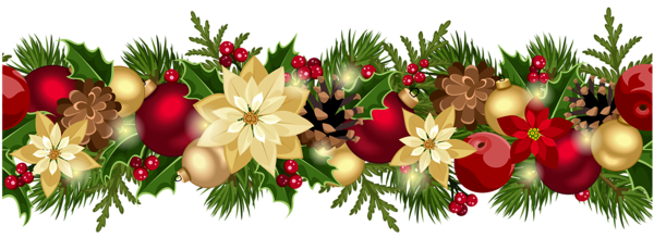 Christmas Decorative Garland Png Clipart Picture Garland Decor Holiday Garlands Christmas Garland