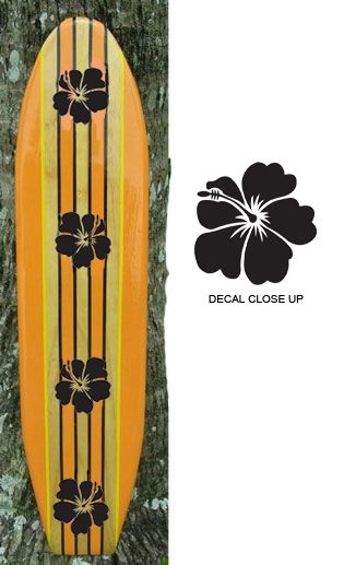 TIKI SOUL DECORATIVE SURFBOARD ART - Orange Crush Surfboard decor ...