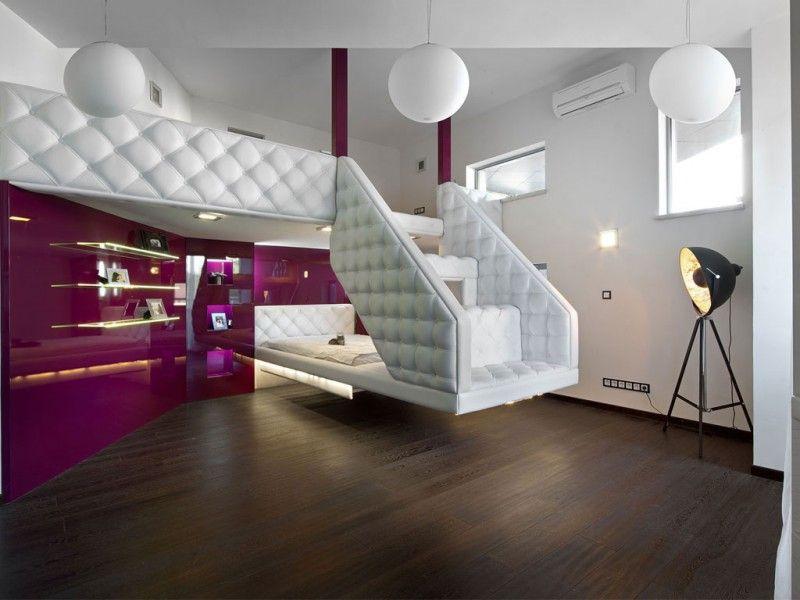 Big Beautiful House Design in Ukraine : Precious Loft Bed Ball ...