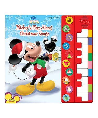 Look at this #zulilyfind! Mickey's Play Along Christmas Songs Piano Book #zulilyfinds
