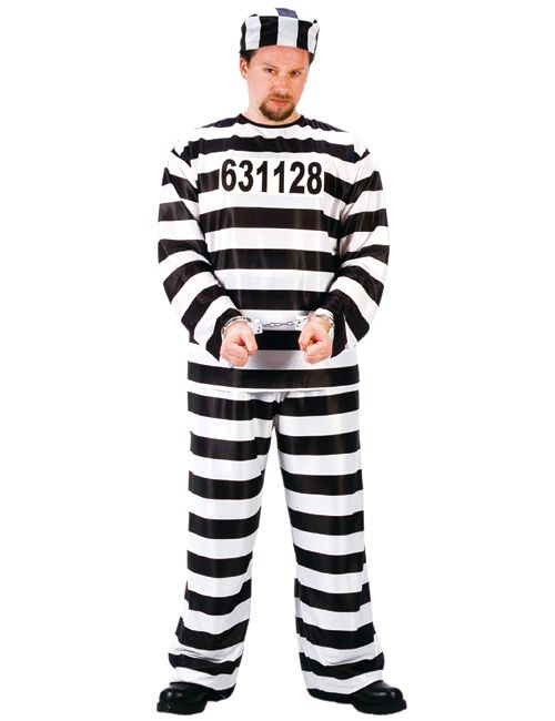 Gefangener Kostüm Sträfling schwarz-weiss aus der Kategorie Karnevalskostüme Klassiker. Lassen Sie sich auf der nächsten Faschingsparty oder Mottoparty doch zur Abwechslung mal abführen. Mit diesem originellen Karnevalskostüm für Herren können Sie lustige Rollenspiele veranstalten - ein absoluter Brüller auf jeder Party!