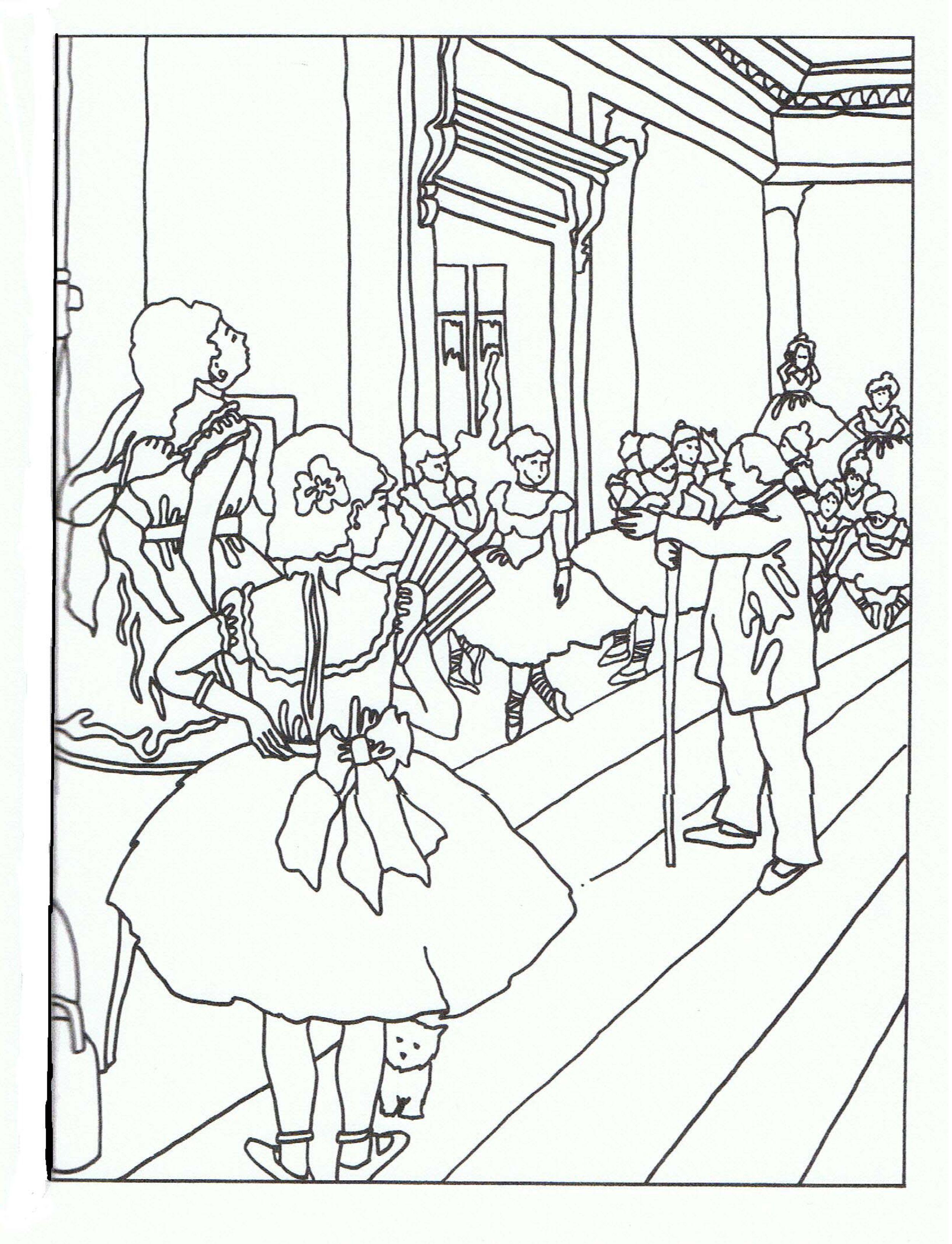 La clase de baile Degas | Para colorear e ilustrar | Pinterest ...
