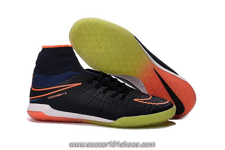 ac94fd877 Nike Mens HypervenomX Proximo IC High Top Football Boots Indoor Soccer  Shoes Black Yellow  75.00