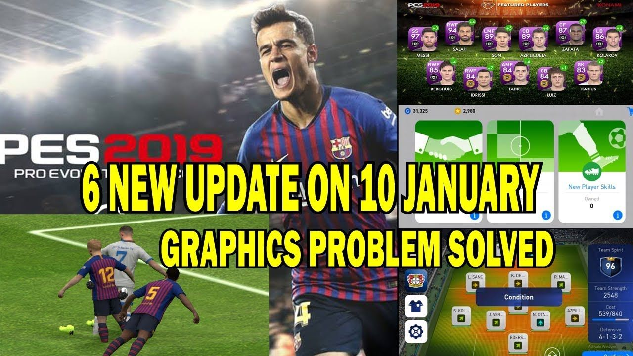 NEW UPDATE PES 2019 || 6 new official update and problem